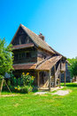 Wooden House, With Storks, Croatia Royalty Free Stock Images - 57579269