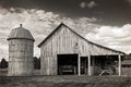 Old Barn And Silo Stock Image - 57585021