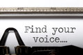 Find Your Voice Inspiration Stock Photos - 57588703