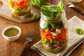 Healthy Homemade Mason Jar Salad Royalty Free Stock Photos - 57589798