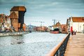 Old Port Of Gdansk With The Crane Stock Photo - 57599770