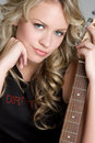 Sexy Guitar Woman Royalty Free Stock Image - 5763236