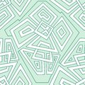 Detailed Seamless Geometric Pattern In Pale Green Tones. Colorful Geometric Pattern. Seamless Pattern, Background, Texture. Vector Royalty Free Stock Photos - 57602188