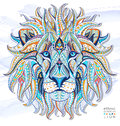 Patterned Head Of The Lion Stock Photo - 57610430