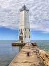 Franfort North Breakwater Lighthouse Royalty Free Stock Images - 57616399