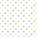 Tile Vector Pattern With Pastel Polka Dots On White Background Royalty Free Stock Photos - 57627838