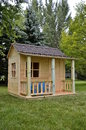 Unpainted Backyard Playhouse Royalty Free Stock Photos - 57642758