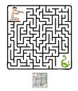 Vector Maze, Labyrinth With Snake And Fakir Stock Photography - 57644712