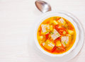 Fish Soup With Vegetables Stock Photo - 57661920
