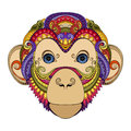 Vector Ornate Monkey Head Stock Images - 57661954