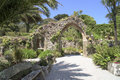 Archway With Tropical Plants Royalty Free Stock Image - 57668646