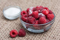 Raspberries And Sugar Stock Photos - 57683793