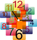 Creative Clock Design Colorful. Stock Images - 57690734