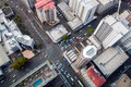 Modern City Crossroad From Bird S Perspective Stock Image - 57693801