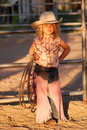 Adorable Little Cowgirl. Royalty Free Stock Image - 5775316