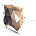 3D Vector Abstract Tech Illustration, Perspective Geometric Asym Stock Photography - 57702782