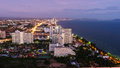 Aerial View Of Pattaya City At Dusk Royalty Free Stock Images - 57704739