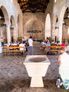 TABGHA, ISRAEL 9 July 2015: Interior Of The Church Of The First Stock Image - 57712251