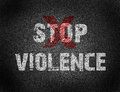 Text For Stop Violence On Grunge Background Royalty Free Stock Photos - 57714918