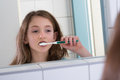 Girl Brushing Teeth Royalty Free Stock Photos - 57716428