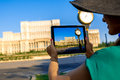 Photographing Parliament Building In Bucharest Stock Photos - 57723553