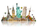 Illustration Of Famous Monument Of The World Stock Photography - 57728052