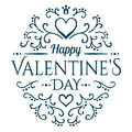 Will You Be My Valentine With Floral Ornament Royalty Free Stock Photos - 57729698