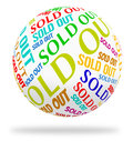 Sold Out Cube Means Stock Stocks And Text Royalty Free Stock Photography - 57730037