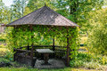 Wooden Gazebo Stock Photography - 57738372
