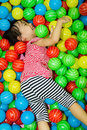 Asian Chinese Girl In Ball Pool Royalty Free Stock Photography - 57742467