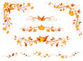 Vintage Autumn Page Decorations And Dividers. Royalty Free Stock Image - 57742506