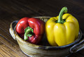 Red And Yellow Bell Peppers Stock Photos - 57743763