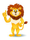 Cartoon Lion Standing And Pointing. Vector Stock Image - 57745881