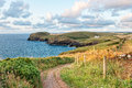 Cornish Coast Path Stock Photography - 57749622