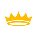 Crown Vector Icon Royalty Free Stock Photo - 57756975