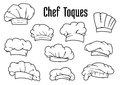 White Chef Caps And Toques Set Royalty Free Stock Photography - 57759747