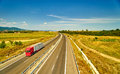 Truck Moving On Highway Stock Images - 57785294