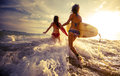 Ladies Surfers Royalty Free Stock Images - 57799569