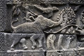 Angkor Wat Elephant Warrior Close-Up Relief Royalty Free Stock Photography - 57803107