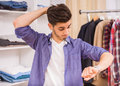 Man In Dressing Room Royalty Free Stock Photo - 57806965