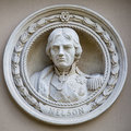 Medallion Bust Of Horatio Nelson In Greenwich Royalty Free Stock Photography - 57828097