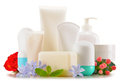 Composition With Containers Of Body Care And Beauty Products Stock Photo - 57829030