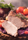 Cut Roast Pork Steak Stock Image - 57840331
