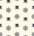 Seamless Pattern Spider And Spider Web Stock Photography - 57840362