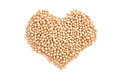 Dried Chick Peas In A Heart Shape Stock Photos - 57857433