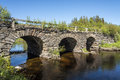 Stone Arch Bridge Jamtland Stock Photos - 57875783