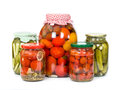 Pickled Tomatoes And Cucumbers Stock Photo - 57877350