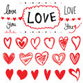 Heart Set Of Design Elements Cartoon Vector Illustration Design Royalty Free Stock Photography - 57892987