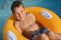 Little Boy With Swimming Ring Royalty Free Stock Photos - 57893708