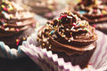 Chocolate Cupcakes Royalty Free Stock Images - 57895009